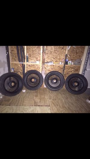 18 $ 17 inch wire tire for Sale in Houston, TX