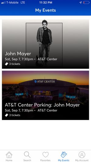 John Mayer tickets and parking for Sale in Corpus Christi, TX