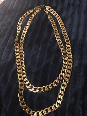 Gold plated reverse chain for Sale in McKees Rocks, PA
