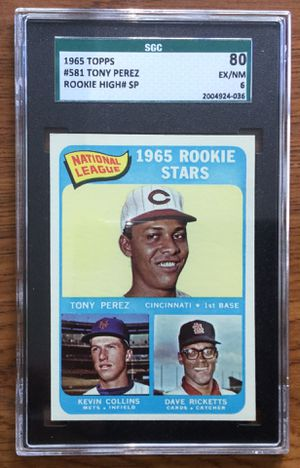 1965 Topps Baseball Rookie Card - Tony Perez - Cincinnati Reds High # - Short Print for Sale in Middleton, MA
