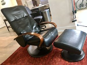 Leather Massage Chair Recliner & Ottoman for Sale in Scottsdale, AZ