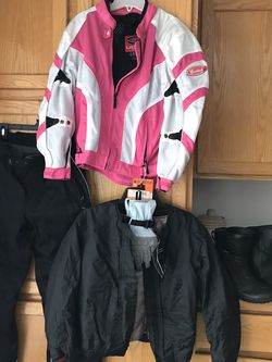 Women's Motorcycle Suit W/ Boots for Sale in Bend,  OR