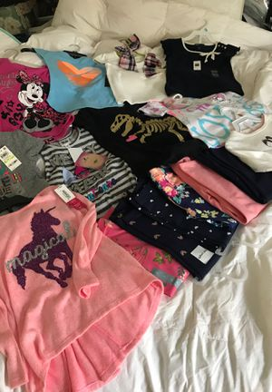 New size 4 / 4t girl clothes, t shirts, long sleeve shorts, leggings for Sale in Orinda, CA
