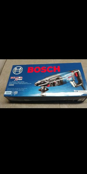 Bosch Demolition Hammer With 18v Dust Collector Both New in Box listed price includes both tools for Sale in Bakersfield, CA