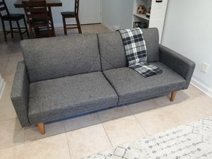 Mid- Century Modern Grey Couch for Sale in Rockville, MD
