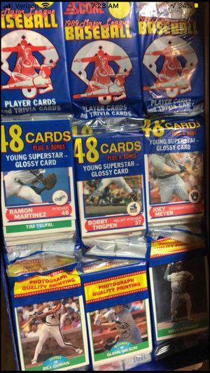 1989 Score Rack Pack Box of Baseball Cards for Sale in Dublin, OH