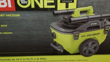 Ryobi 18v 6 Gallon Wet/Dry Vacuum P770 for Sale in Los Angeles,  CA