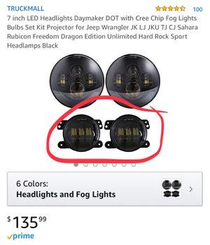 Daymaker CREE JK Jeep LED fog lights for Sale in Alexandria, VA