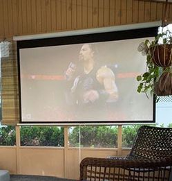 """(New In Box) $75 Manual Pull Down 120"""" Projector Screen 16:9 Ratio Projection Home Theater Movie for Sale in Whittier,  CA"""