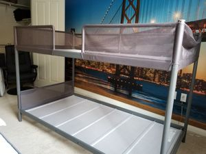Sturdy Metal Twin-over-twin Bunk Bed (can include mattresses and bedding) for Sale in San Jose, CA