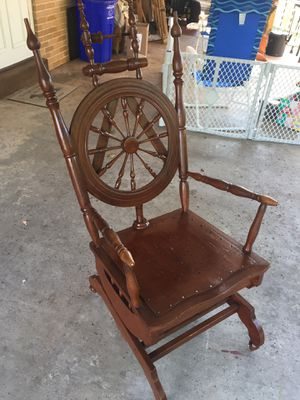 Spinning Wheel Rocking Chair for Sale in Enola, PA