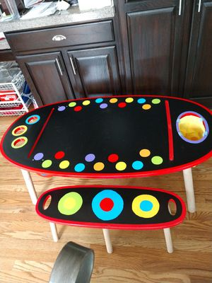 Colorful ALEX Toys Oblong Artist Table with Roll Out Paper for Sale in Arvada, CO