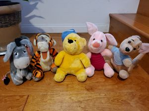 Disney Store Authentic Winnie the Pooh Stuffed Animal Set and Friends Plush Toys for Sale in San Diego, CA