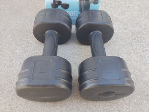 2x 5 LB Tone Fitness Dumbbell Pair Set of Weights for Sale in El Monte, CA