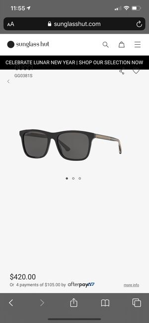 Gucci GG0381S Black Polarized Sunglasses NEW for Sale in Tualatin, OR