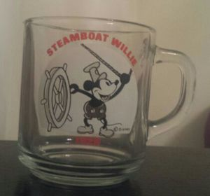 Steamboat Willie 1928 Disney Glass Cup for Sale in Daly City, CA