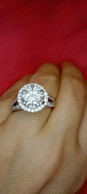 3 carat certified diamond engagement halo ring for Sale in Atlanta, GA