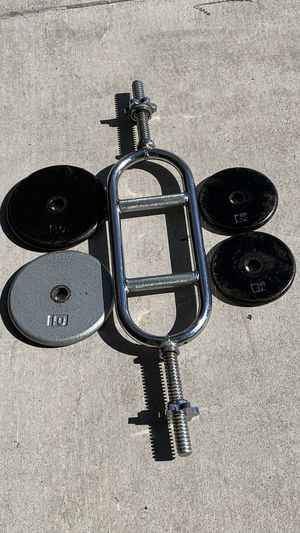 Skull Krusher Hammer Curl Weight Bar with Weights for Sale in Las Vegas, NV
