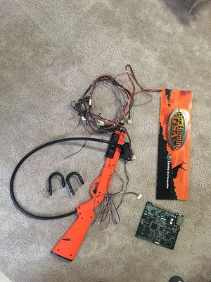 Turkey hunting arcade game board,gun,marquee,and wiring harness for Sale in Glenview, IL