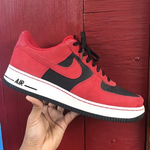 Nike AirForce1 Red & black for Sale in Bell Gardens, CA