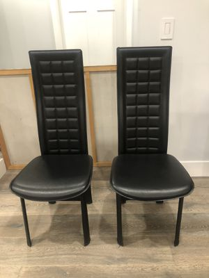 Modern black chairs! Set of 2. $75 EACH CHAIR ($150 for both) for Sale in Los Angeles, CA