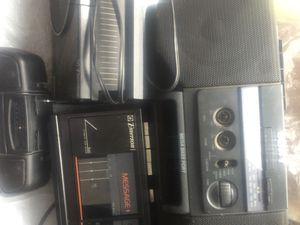 4 radio: Big size Somy + C D , tape$50; 2 Emerson + Dual Alarm Set , Message , Radio , Cassettes recorder, Digital clock& Ultronic has Twin Speaker S for Sale in Bloomington, CA