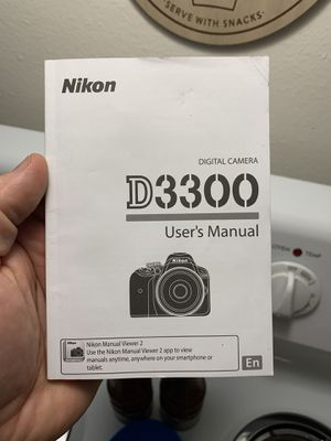 Original Nikon D3300 Digital Camera User's Manual Instruction Book (English) for Sale in Gladstone, OR