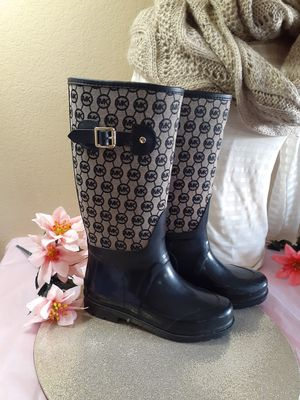 Michael Kors Monogrammed rain boots * wellies * size 6 for Sale in Vernon, WI