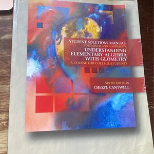 Student Solutions Manual Understanding Elementary Algebra with Geometry for Sale in Mount Laurel Township, NJ