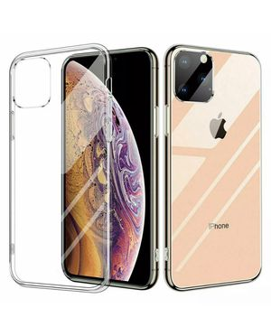 2 iPhone 11 phone cases - clear silicone and black rubber for Sale in Alexandria, VA