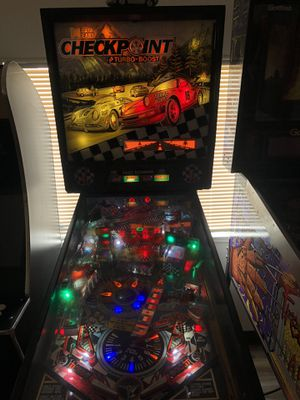 Data East Checkpoint Porsche themed pinball machine for Sale in Riverside, CA