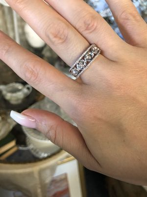 14K gold natural diamonds cocktail wedding band ring for Sale in Clovis, CA