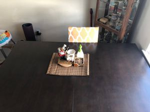 Dinning table with extension and 4 chairs for Sale in Santa Clara, CA