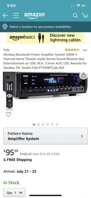 Amplifier system for Sale in Chula Vista, CA
