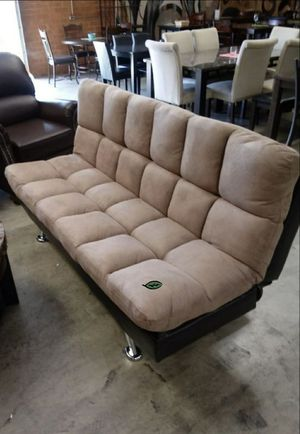 🍃$39 Down #*# Best PRiCE 🍃 Sundown Espresso/Pebble Adjustable Futon Sofa 379 for Sale in Houston, TX
