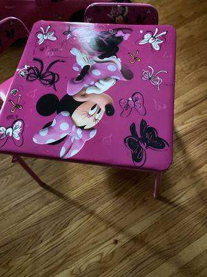 Minnie Mouse kids table set, two chairs included for Sale in Philadelphia, PA