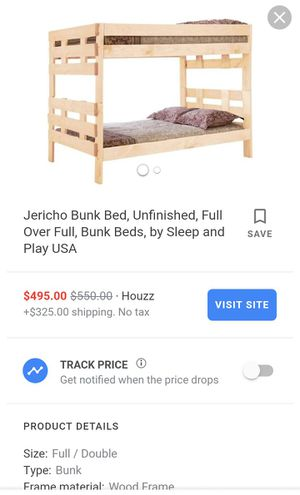Full over full bunk beds for Sale in Wichita, KS