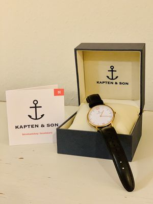 Kapten & Son Campina Watch in Black Leather for Sale in Los Angeles, CA