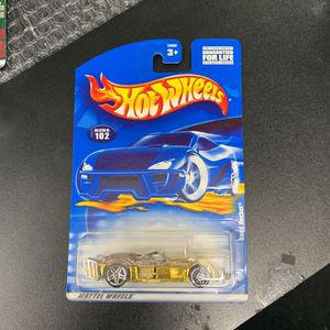 2001 Hot Wheels Collector#102 ROAD ROCKET Gold Chrome w/Chrome Pr5 Spoke Wheels for Sale in Waco, TX