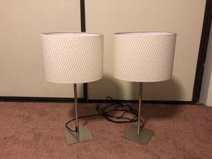 Two matching white lamps for Sale in Chino, CA