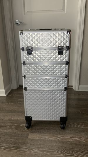 Aluminum rolling makeup organizer for Sale in Clearwater, FL