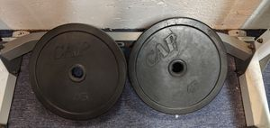Two 45lb Olympic weight plate rubber encased bumper for Sale in San Diego, CA