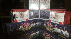 Sealed Baseball boxes 4 Topps purple box complete set w/ RC CHROME VARIATION, 4X PETE ROSE AUTOGRAPH CHARLIE HUSTLES 2X TOPPS 2020 GALLERY LOT for Sale in Mission Viejo, CA