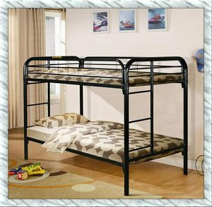 Bunkbed Twin Twin bunk bed new with mattresses for Sale in Falls Church, VA