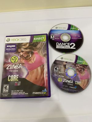 Xbox 360 Kinect Zumba and dance central games for Sale in Brooklyn, NY