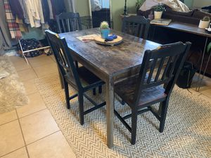 Dining table with 4 chairs for Sale in Denver, CO