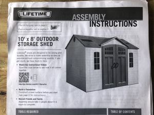10 x 8 outdoor storage shed for Sale in Sunbury, OH
