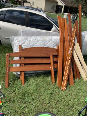 Wood twin size bunk beds for Sale in Lakeland, FL