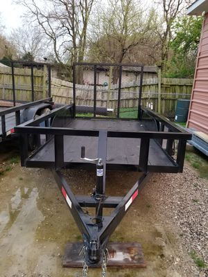 5x10 Pipetop Tandem Trailer With 4ft Tailgate for Sale in Dallas, TX