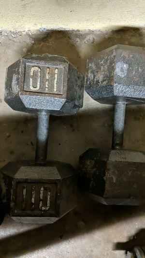 Dumbbells 110lb for Sale in El Cajon, CA
